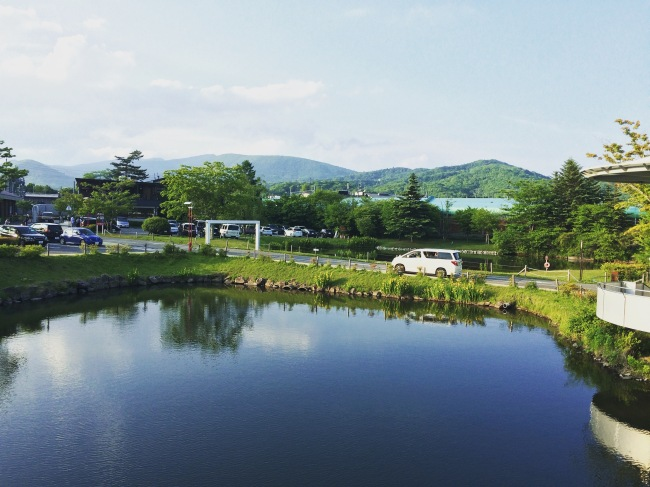 The view from the Premium Shopping Outlet in Karuizawa, talk about shopping with a view- 6pm