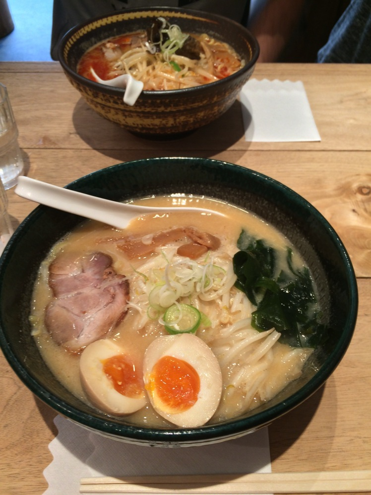Tonkotsu ramen from one of our favorite little shops in Shibuya