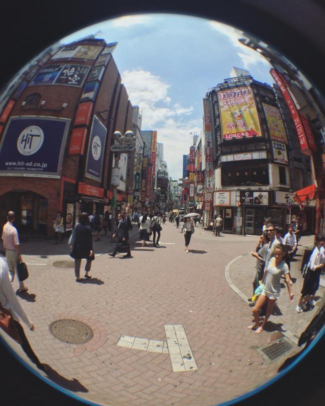 Bright and bustling Shibuya