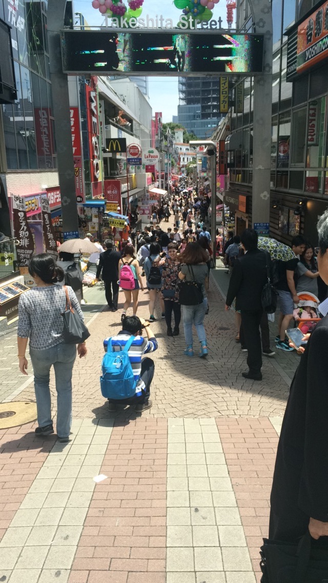 The always exciting Takeshita Dori in Harajuku