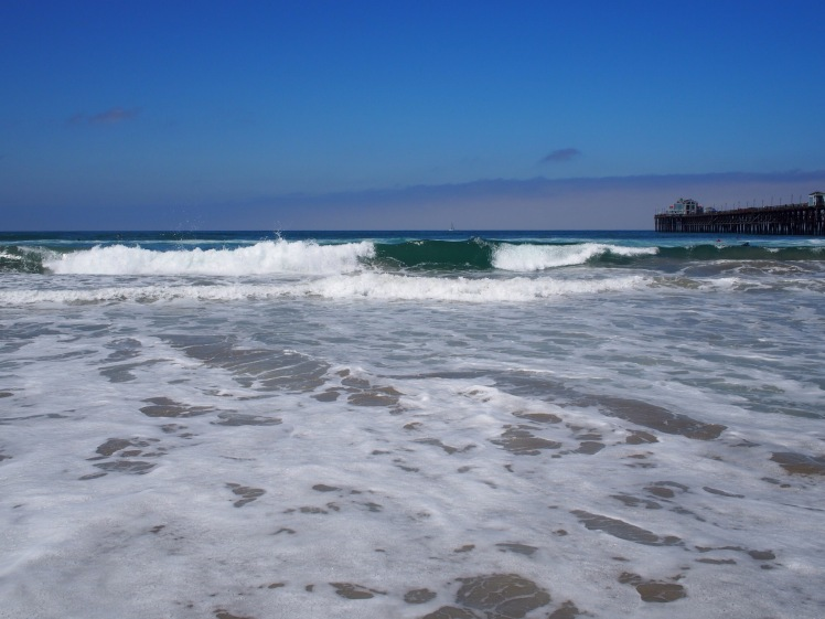 Beautiful waves crashing on the beach- Oceanside Beach