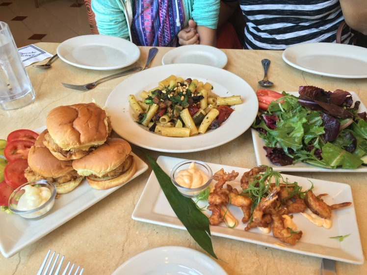 Good old Cheesecake Factory lunch (mmmm!)- Fashion Island, Newport Beach