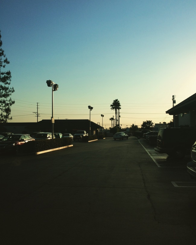First night back in beautiful Claremont- 6:45pm early June