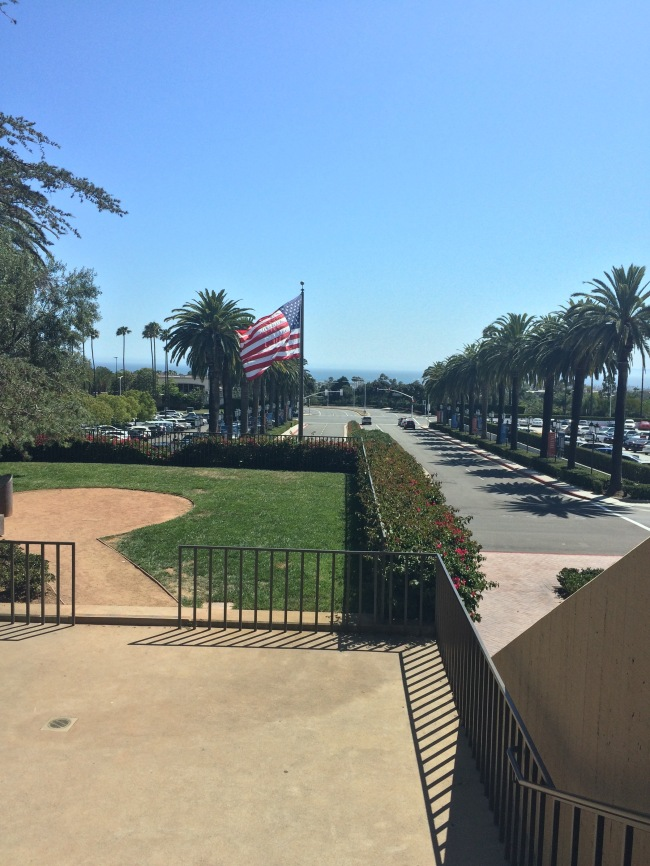 God bless America for the best shopping malls, beaches and the prettiest flag- Fashion Island, Newport Beach