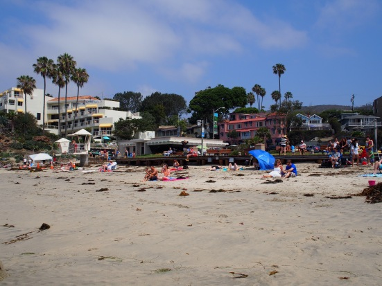 Nothing better than sitting on a beach with a sun-kissed nose and sandy toes- Laguna Beach @ 11:30am
