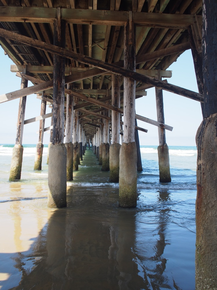 "the obligatory ""I'm under the pier"" picture- Newport Beach"