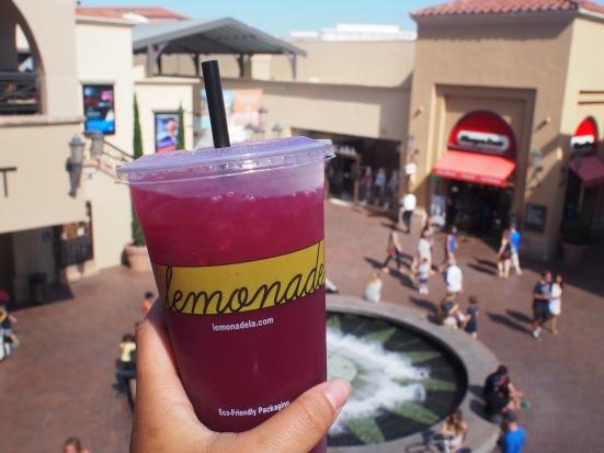 Blueberry mint lemonade form the best lemonade store in California (part 2), Fashion Island