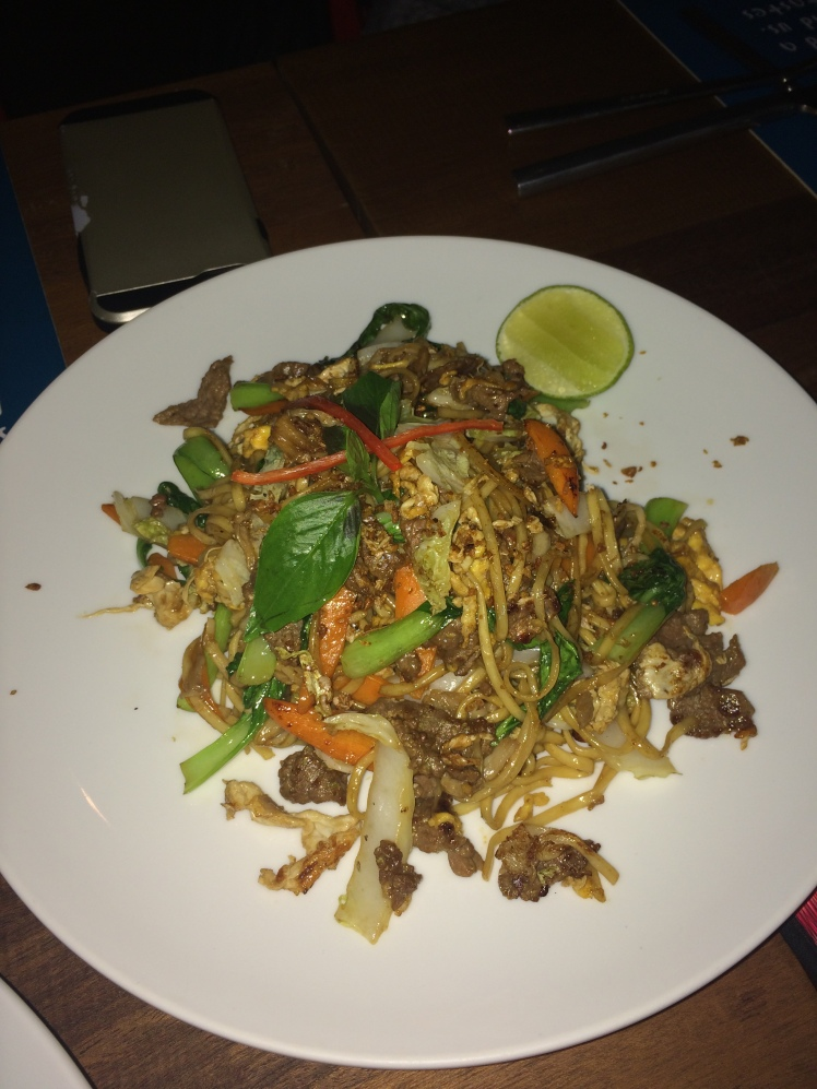 Egg Noodles with Beef- Recommended to us by our waitress:)