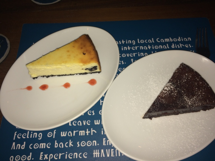 Chocolate Cake and Oreo Cheesecake- How do you say no?
