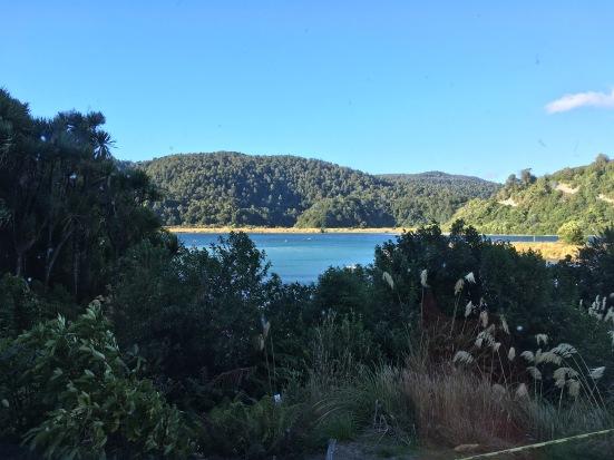 Lake Waikaremoana from a higher angle