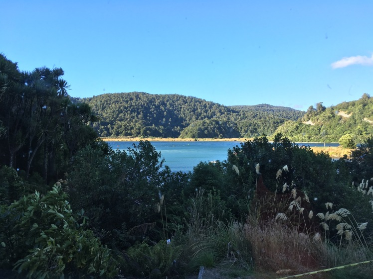 Lake Waikaremoana from a higher angle