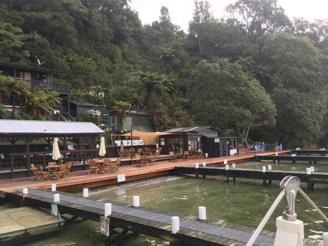 On our last evening, we took a yacht ride on Lake Rotoiti to the natural hot springs