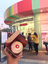 A weekend treat from the Sprinkles Cupcake ATM at the Glendale Galleria.
