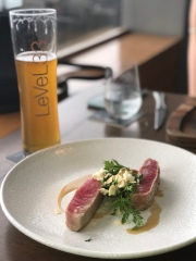Seared tuna and //Level 33, Marina Bay Financial Tower