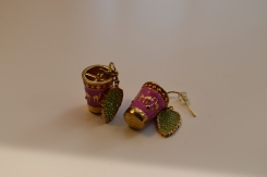 Tea cup earrings from part of the Morocco line.