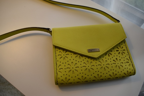 Love this little cross-body bag that adds a POP to any outfit.