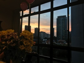 A pretty sunset featuring some Mothers Day flowers//Grange Road