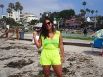 Dainty Hooligan neon yellow romper.