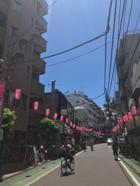 Back streets of Tokyo getting ready for festival season// Naka-Meguro, Tokyo
