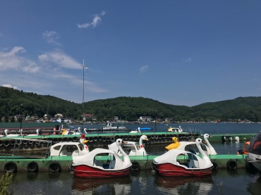 Boats and hoes...and ducks// Lake Nojiri, Japan