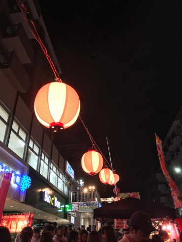 Celebrating the end of summer with bright, pretty lanterns// Azabu Juban, Tokyo