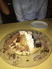 ...and we definitely did not forget about the dessert platter (also from Mari e Monti).