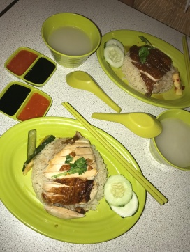 Chicken rice from a local food court