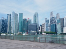 A view of the iconic Central Business District // Marina Bay