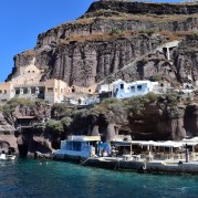 Beautiful coastsides of Santorini on the way to Oia.