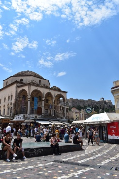 In the middle of Monastiraki Square.