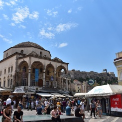 In the middle of Monastiraki Square.