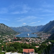 A beautiful view of Kotor Bay from the top of a mountain.
