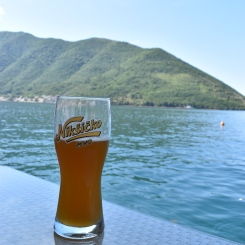 Mid-morning local beer with a view.