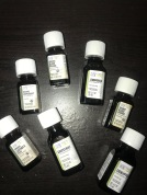 A bunch of new Aura Cacia essential oils.